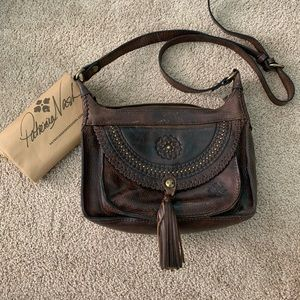 Patricia Nash Distressed Leather Cross Body Bag